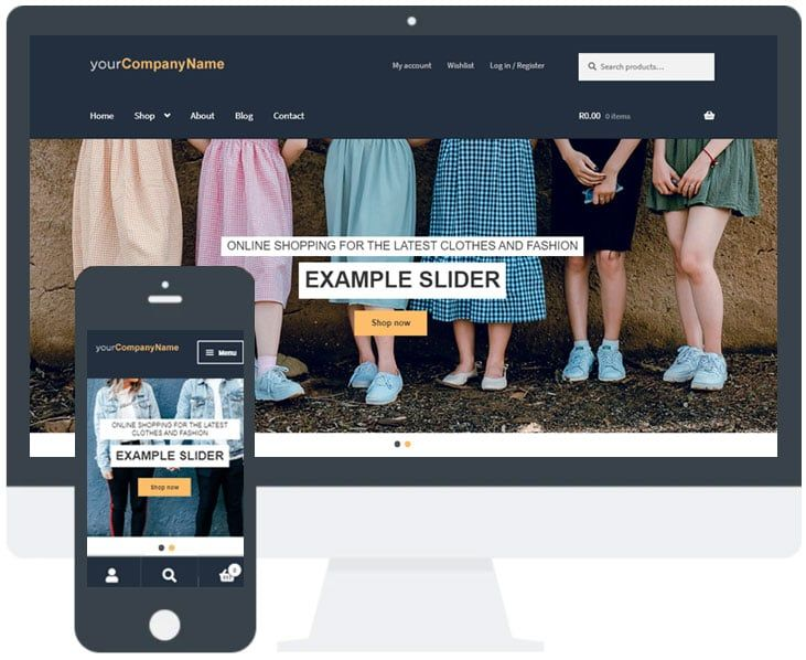 Ecommerce Website Template Example